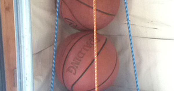 DIY Ball Corral - Welcome to the Woods. Store all those bouncy