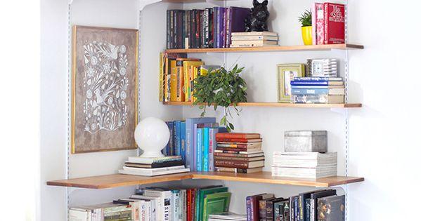 Bookshelves estanter a esquina deco pinterest - Estanterias en esquina ...