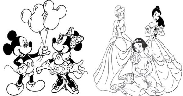 disney themed birthday coloring pages - photo#1