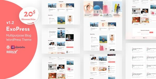 Themey4you Theme And Templates Free Premium Exopress V1 2 Multipurpose Personal Blog Wordpr In 2020 Blog Themes Wordpress Wordpress Theme Wordpress Blog