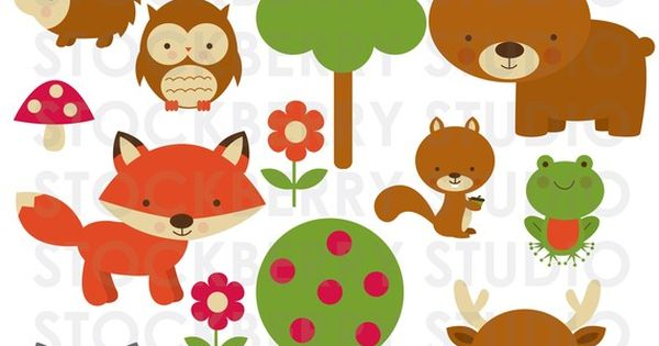 Forest Animals Personal And Commerical Use Clipart Set