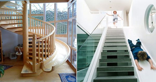 Slide staircase - good for kids and moving items up and down