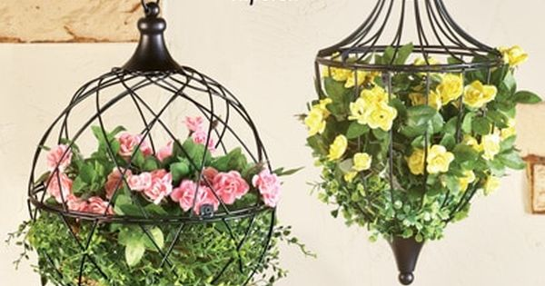 Elegant Hanging Wire Basket Planter Collections Etc Hanging Plants Outdoor Hanging Flower Pots Hanging Plants