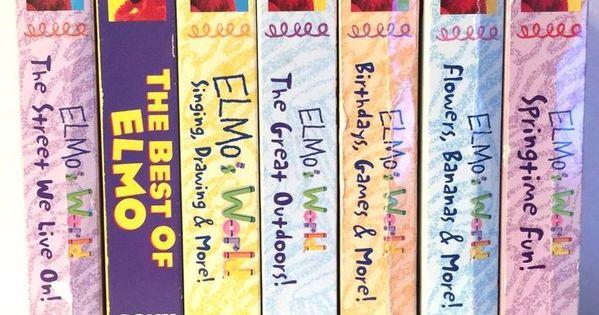 Sesame Street Elmo S World Wild Wild West 2001 Vhs Google