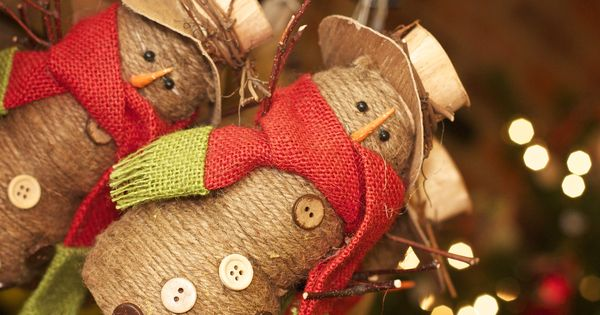 Country Christmas Ornaments Holiday Crafts Pinterest