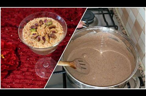 عصيدة البوفريوة التونسية و الكريمة متاعها بأدق التفاصيل و سر نجاح لونها Assidet Noisettes Tunisien Youtube Food Desserts
