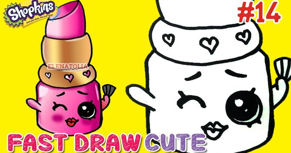 how to draw easy shopkins step by step