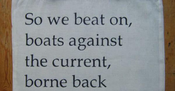 Boats against the current lyrics