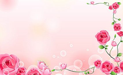 Roses Card Pink Flowers Background Flower Backgrounds Pink