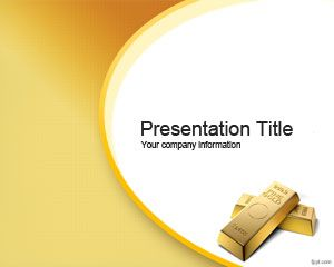 Golden Opportunity Powerpoint Template Is A Free Slide