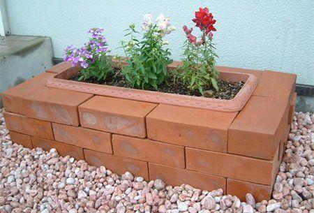 Creativas Ideas Para Adornar Tu Casa Con Ladrillos Jardin De Ladrillo Decoracion Del Jardin Piedras Decorativas Para Jardin
