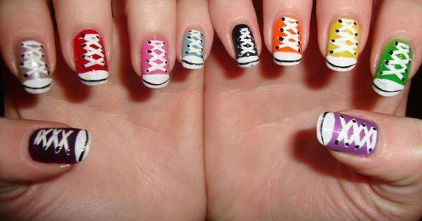 Tennis Shoes Nail Art nailart manicure nail