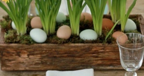 Green Plants Table Decor with Awesome Brunch Menu Ideas for Delightful Easter
