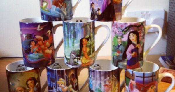disney princess mugs I want all of them.