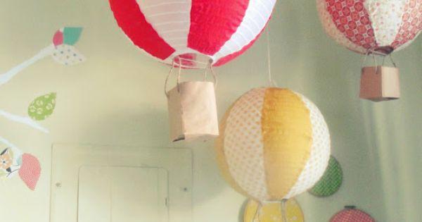paper lantern hot air balloons cute nursery idea