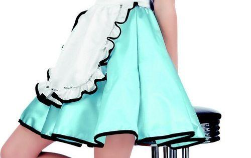 Disfraz adulto girl 50 39 s este disfraz de camarera de los a os 50 para mujer incluye vestido - Zapatos camarera antideslizantes ...