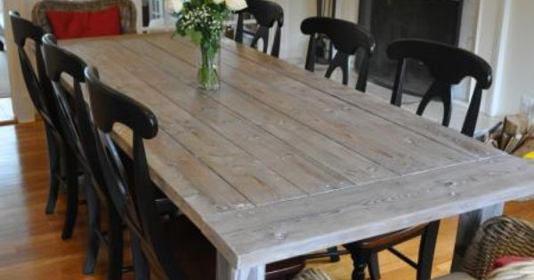 Farmhouse Table with Extensions | Do It Yourself Home Projects from Ana