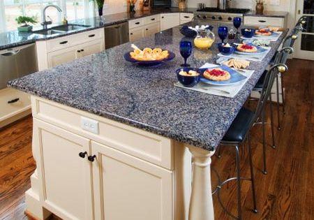 Kitchen Counter Materials Blue Diamond Granite Kitchen