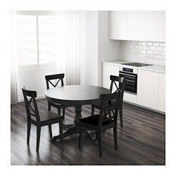 Ingatorp Extendable Table Black 43 1 4 61 Ikea Dining Room