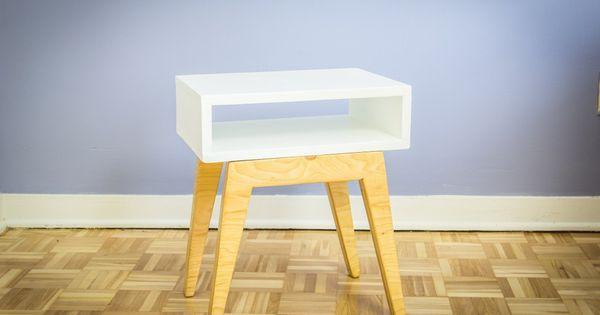 Fabriquer une table de chevet scandinave meubles - Fabriquer table de chevet ...