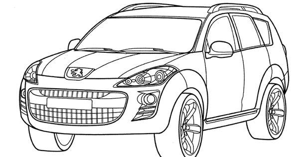 coloriages pour adultes voitures