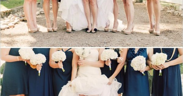 Nude Beige Short Bridesmaid Dresses Each With Their Own: Navy Blue Bridesmaid Dresses Neutral Shoes.....but Then I