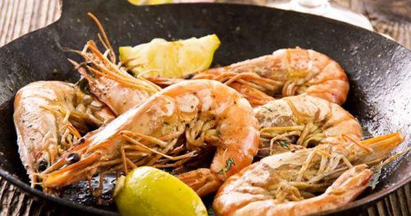 Receta De Langostinos A La Plancha Con Vino Blanco Unareceta Com Recipe Prawn Recipes Best Prawn Recipe Greek Recipes
