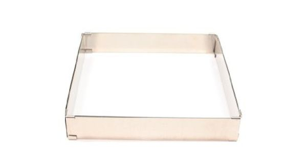 Paderno World Cuisine Adjustable Square Frame Extender From 11 7 8 Inch Square To 22 1 2 Inch Square Paderno World Cuisine World Cuisine Cake Pan Sizes