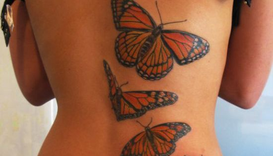 Butterfly And Rose Tattoo Idea | Amazing Butterfly Tattoos on Wrist -