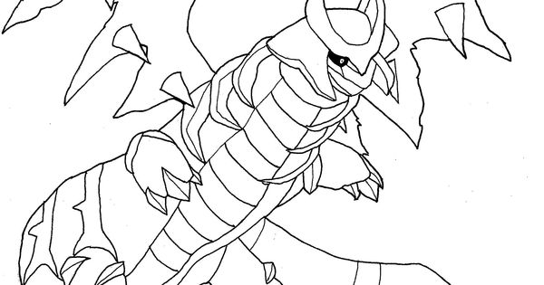 Kleurplaat giratina pokemonkleurplaten for Pyroar coloring pages