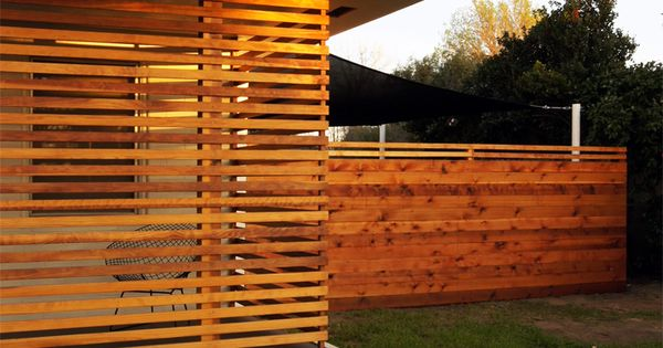 Slat Wall Horizontal Fence Modern Horizontal Fence