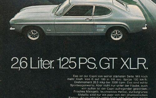 Ford Capri 2600 Werbung Advertisement Met Afbeeldingen Oldtimers