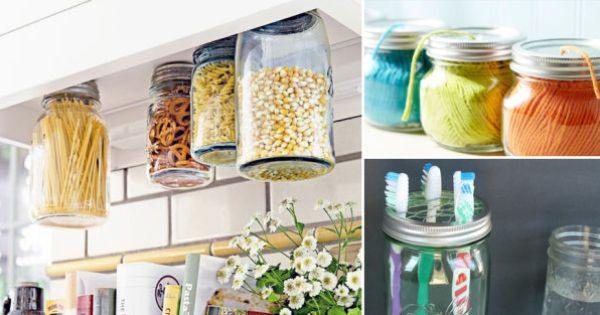 16 ideas para reutilizar frascos de vidrio en todo tu for Como decorar botes de cristal para la cocina