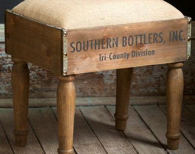 Bottle Crate Foot Stool Repurposed Pinterest Best