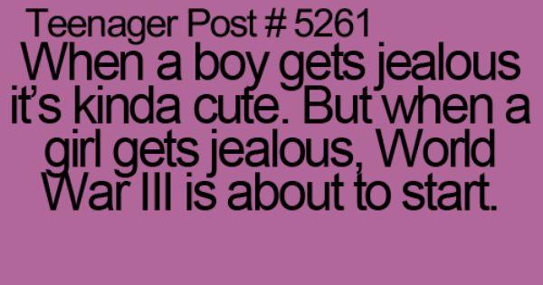 Teenager Post Jealous