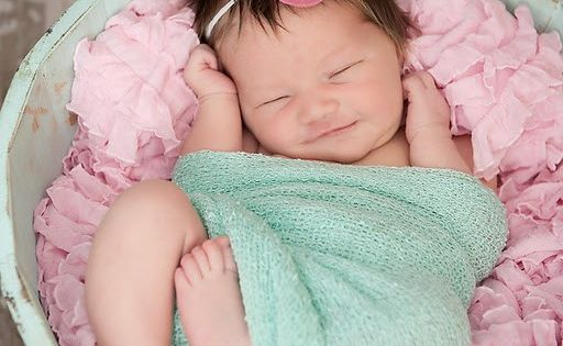 I love babies with long dark hair!!! This one could almost be