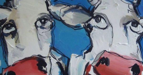 Supporter koeien samen naar de overwinning koeien op canvas cows on paintings pinterest - Moderne overwinning ...