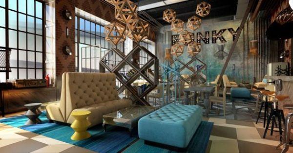 Funk restaurant interior by annis lender via behance