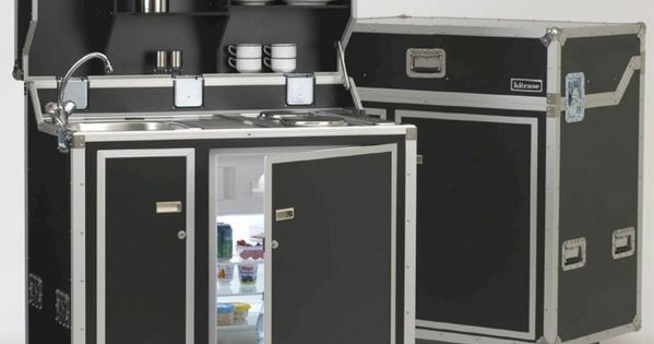 pro art kitcase kofferk che mit k hlschrank home ideas pinterest road cases kitchen small. Black Bedroom Furniture Sets. Home Design Ideas