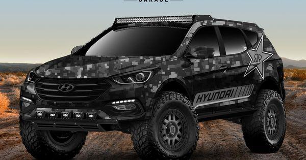 Hyundai Builds An Extreme Santa Fe Off Road Concept For Sema Carscoops Hyundai Santa Fe Sport Santa Fe Sport Hyundai Santa Fe