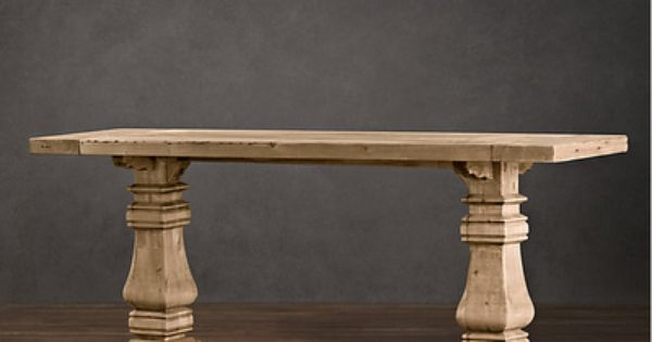 hardware trestle console table restoration hardware look alikes