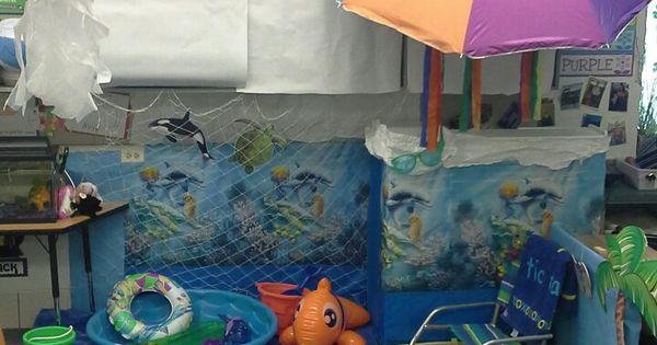 Classroom Ideas Beach Theme ~ Preschool beach ocean dramatic play area