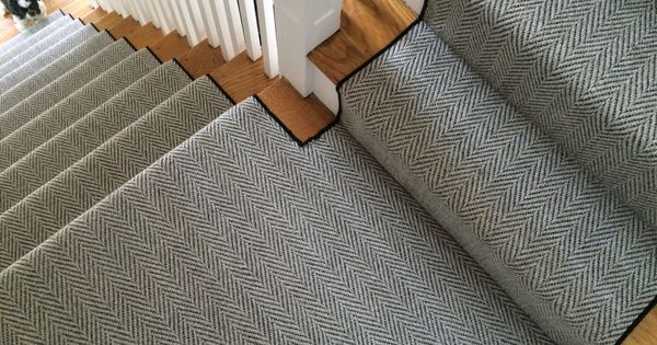 A Herringbone Carpet Is An Awesome Way To Set A Certain