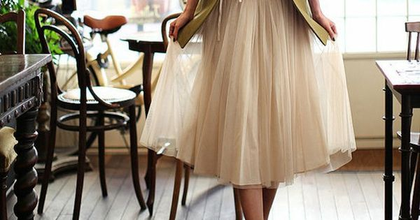 casual tulle skirt