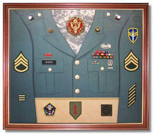 Army Uniform Display Case Military Shadow Box Military Decor