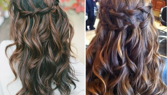 half up hairstyles. wedding hair ideas!