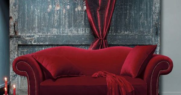 Velvet couch...  chair  Pinterest
