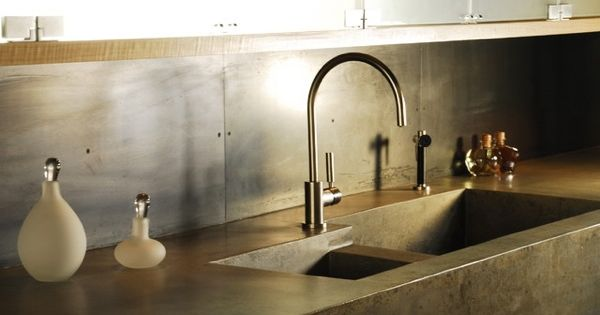 kitchen sink trends integrated concrete tidy home pinterest studi amore e lavelli cucina - Brass Kitchen Sinks