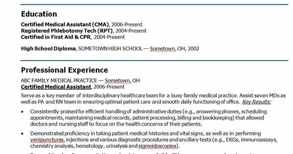Medical+assistant+resume+objectives