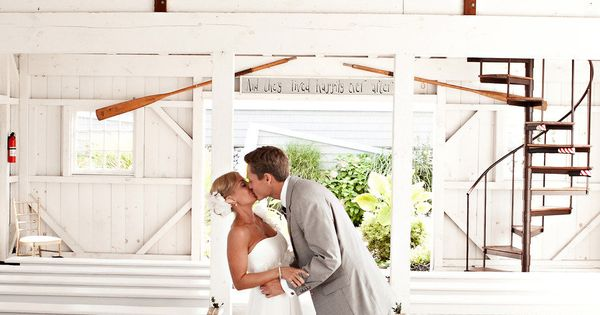 How adorable is this Boathouse Chapel at Bonnet Island Estate?? Photography by